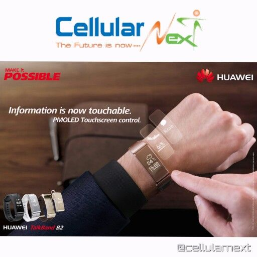 Stay informed in light and in darkness with the #TalkBandB2 autolight touchscreen. #cellularnext #huaweidistributors #huawei