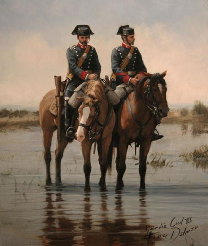 Guardia Civil, XIX, obra de Augusto Ferrer-Dalmau