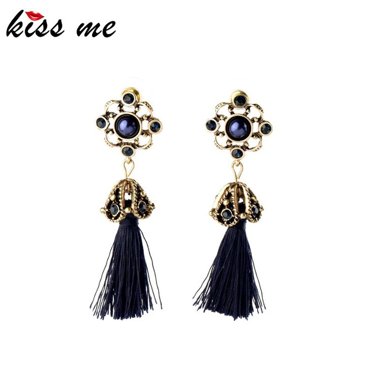 Retro Fashion Tide Royal Style Atmosphere Antique Rope Tassel Dangle Earrings