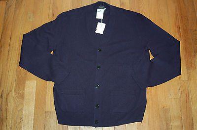 JCrew $248 Italian Cashmere Cardigan Sz Large (L) Navy Sweater F4042 AVL