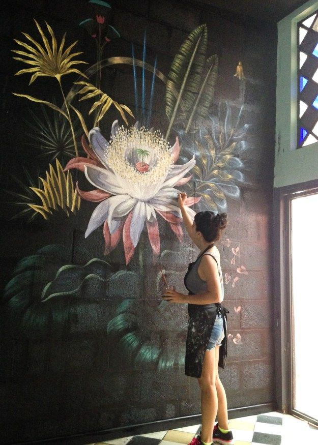25 best ideas about painted wall art on pinterest diy for Acrylic mural painting techniques