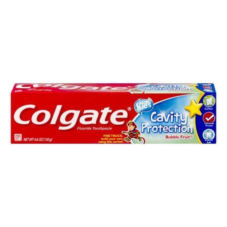 Colgate Kids Cavity Protection Fluoride Toothpaste Bubble Fruit, 4.6 OZ, Multicolor