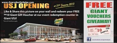 Giant Hypermarket FREE Voucher Opening Promotion