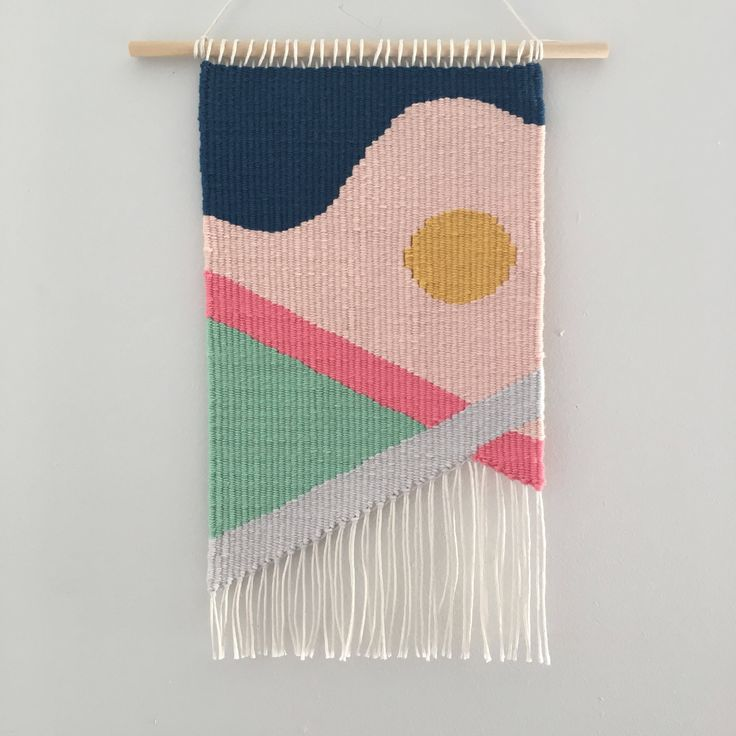 A personal favourite from my Etsy shop https://www.etsy.com/au/listing/548460609/hand-woven-tapestry-weaving-wall-hanging