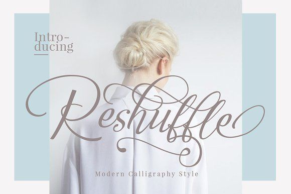 Reshuffle Script Font Set by Dirtyline Studio on @creativemarket