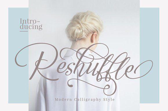 Reshuffle Script Font Set by Dirtyline Studio on @creativemarket