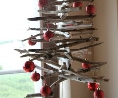 And a hanging driftwood Christmas tree