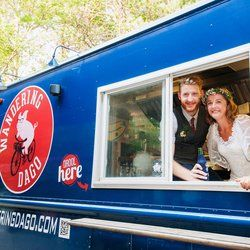 Wandering Dago Food Truck & Catering - Schenectady, NY, United States. We love it when couples take full advantage of having a food truck at their wedding.  Congrats!