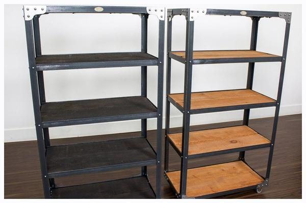 Industrial Bookcase - Matching Pair - USD A pair of bookcases with your…