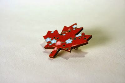 The Handmade Movement: Home of The Sneak Attack: GIVEAWAYS! 2013 @taurus_12 brooch - maple leaf, bird, or diamond!
