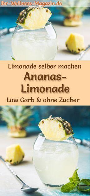 Ananas-Limonade selber machen – Low Carb & ohne Zucker