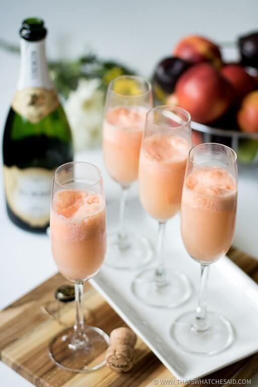 Bubbly Champagne poured over frozen sherbet turns into the most delicious summer mimosa float you ever did have. Perfect for brunches, special events, book club or even just a Tuesday!