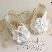 Baby booties ballerina  - via @Craftsy
