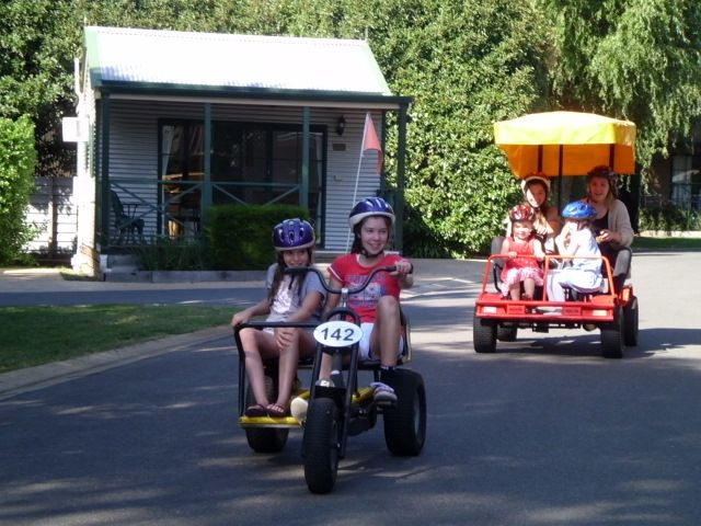 How could you resist our peddle carts! They're great fun!