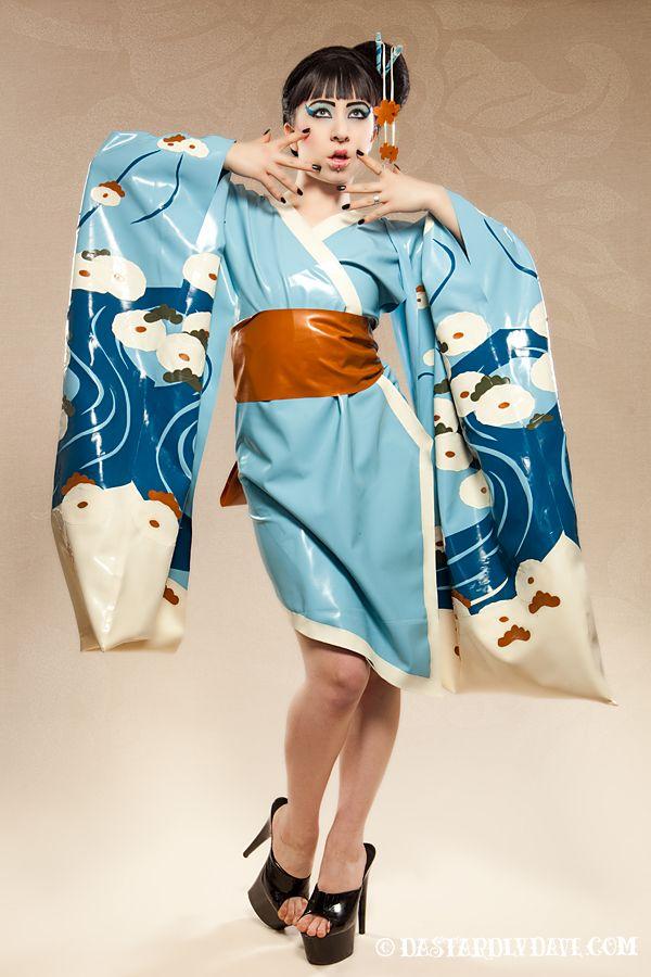 Chrysanthemum River Kimono   Dawnamatrix Latex Clothing