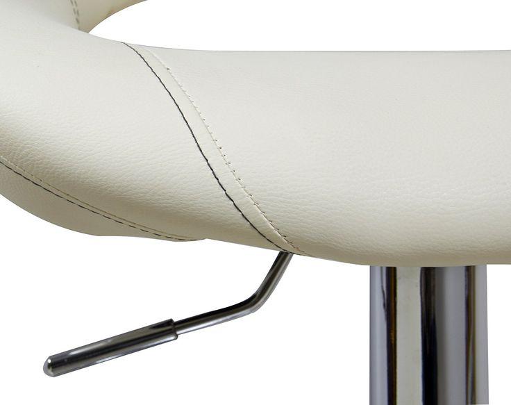Woltu 9192 2 Set Faux Leather Bar Stools Cream Swivel bar stools kitchen stools breakfast bar stools Gas Lift Adjustable Seat height:62 to 84cm: Amazon.co.uk: Kitchen & Home