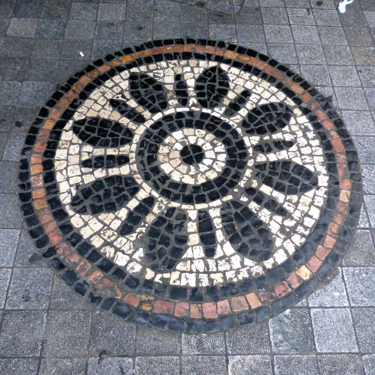 Macau Tiled Streets: This one is found in the Three Lamps District - Photo taken by BradJill