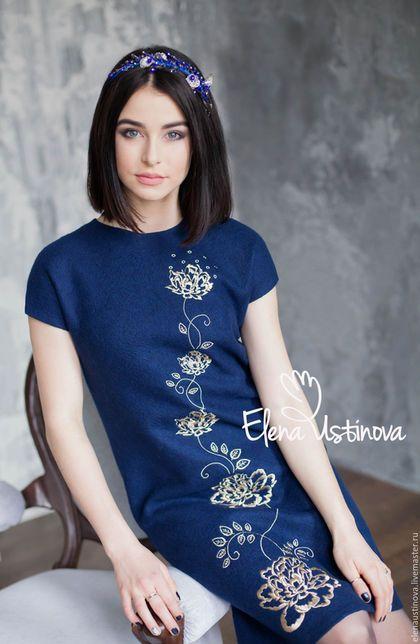 "Handmade felted dress / Валяное платье ""Пионы"" с вышивкой — работа дня на…"