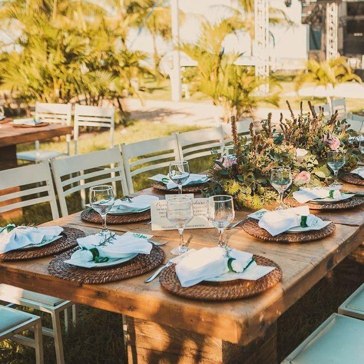 Decoração de casamento rústico: 70 fotos e idéias apaixonadas   – tables decor