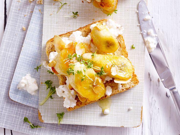 Frühstücksideen fürs Wochenende - vollkorntoast-banane  Rezept