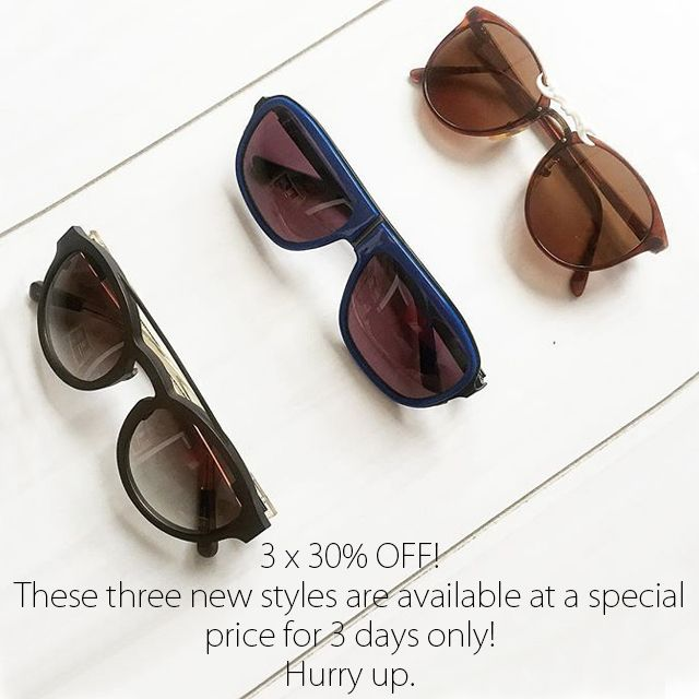 3 x 30% OFF // These three new styles are available at a special price for 3 days only! Hurry up.