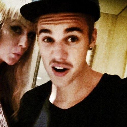 Justin Bieber Mustache Instagram