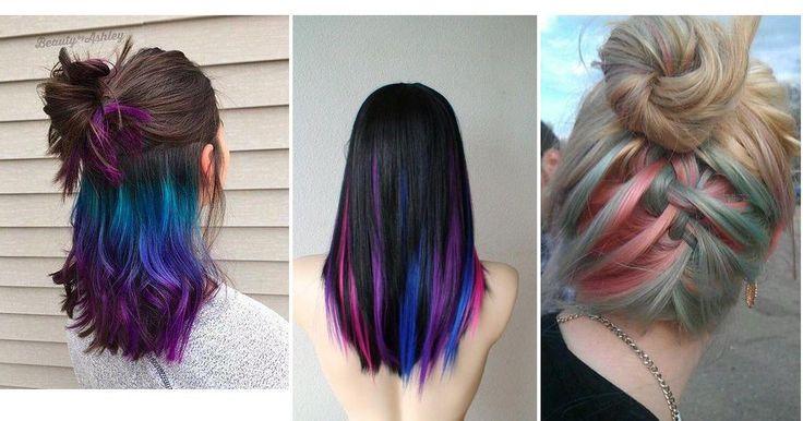 Arcoiris oculto, la nueva tendencia que se apodera del cabello, ¿te apuntas?