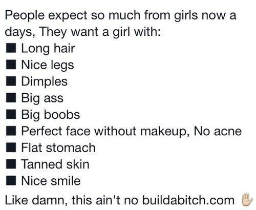 Hahahahahahahhaahabhahahahahaha. *Okay* :P so true, mAn. Esp. Bigg ass & boobs :3
