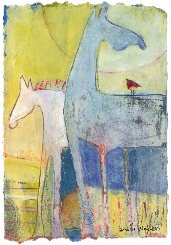 Abstract+Pony+Original+Painting+by+ShelliWalters+on+Etsy,+$120.00