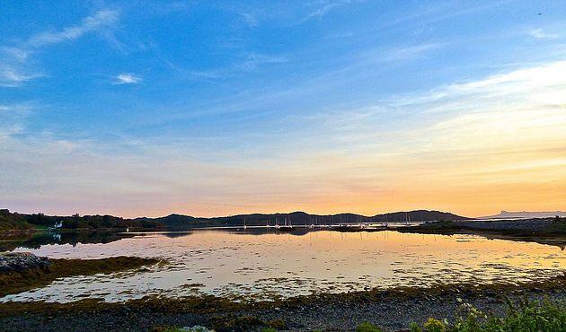 Arisaig sunset: Ready my blog on Arisaig, Glenuig and Glenfinnan