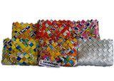 Woven Coin Purses made from Recycled Juice Boxes