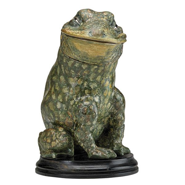 Martin Brother frog tobacco jar, Rago lot #17