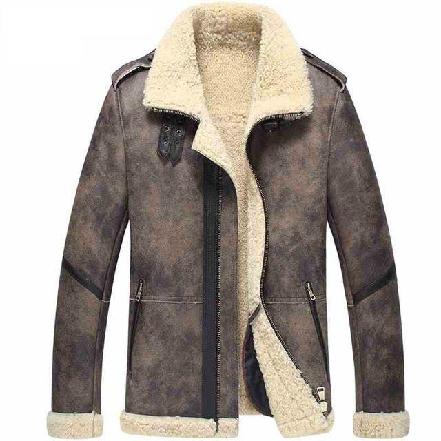 Shearling jacka Herr | Fake Fur Jacka | Styleitaly.se