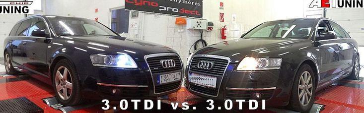 Audi A6 3.0TDI Ugyanaz a beállítás-két különböző autón és az eredmény