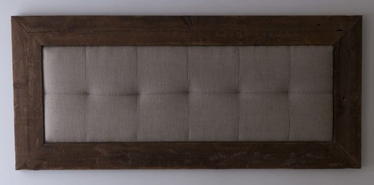 Tufted Upholstered Wall Mounted Headboard With Wooden Frame