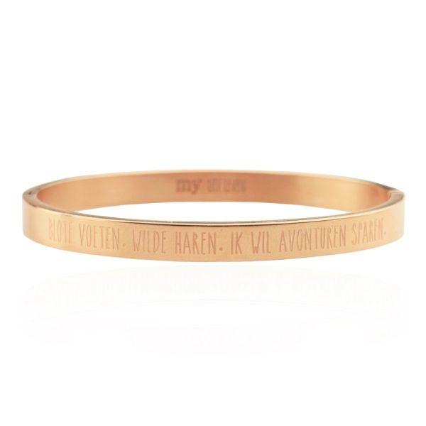 My Jewellery Armband Blote Voeten Wilde Haren - Rose