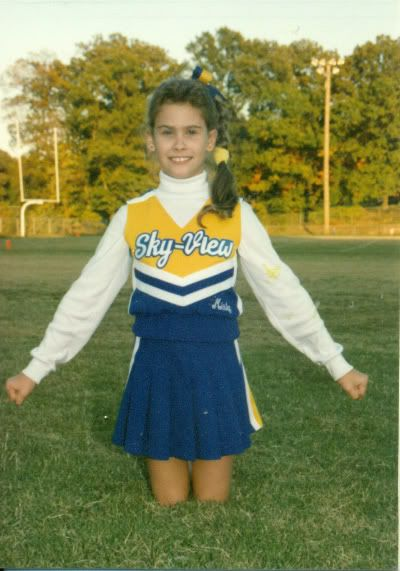 Our cheer outfits were classy; actually covered our private parts.