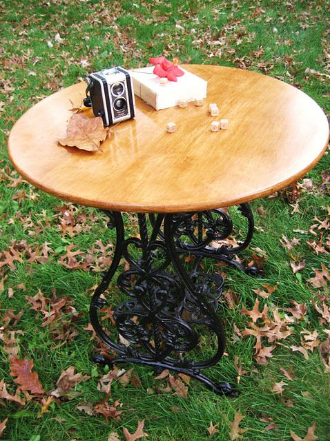 old sewing machine base- now I know what to do with the one I have in storage!