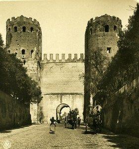 Italy Roma Door San Sebastiano Old NPG Stereo Photo Stereoview 1900