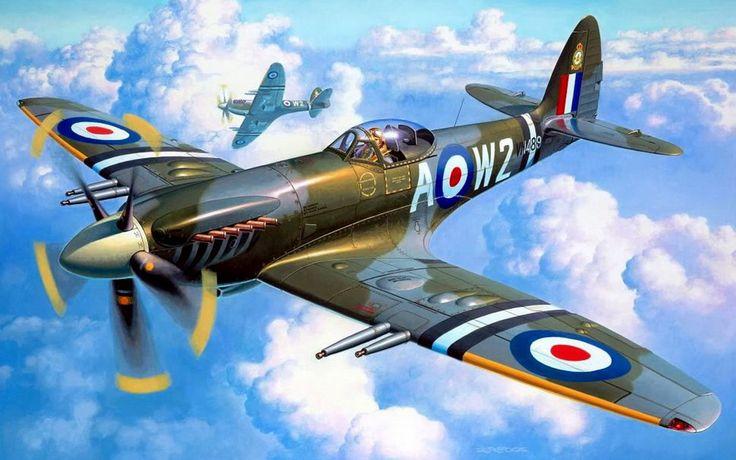 céu de spitfire Vetor