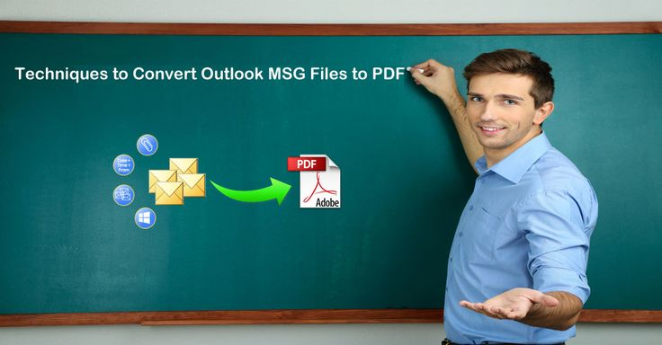 #Convert email #messages from #MSG to #PDF format by using #manual and #automatic #techniques