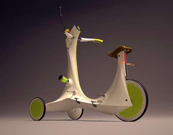 Hyun-Seok Kim/Three Wheel Electric Scooter, eléctrico, urbano y sostenible ~ nq