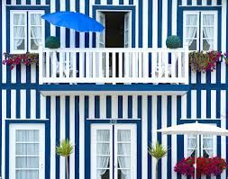 Striped beach house of costa nova