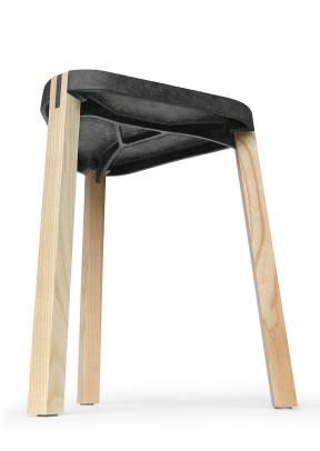 FS Stool of concrete and wood
