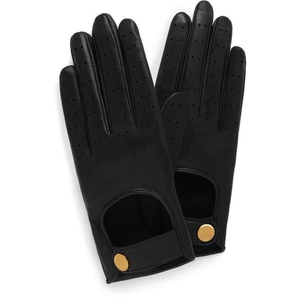 Mulberry Biker Gloves ($290) ❤ liked on Polyvore featuring accessories, gloves, black and bike gloves