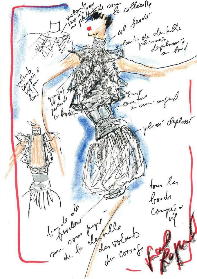 fashion croquis | Croquis des robes en édition limitée de Karl Lagerfeld ...
