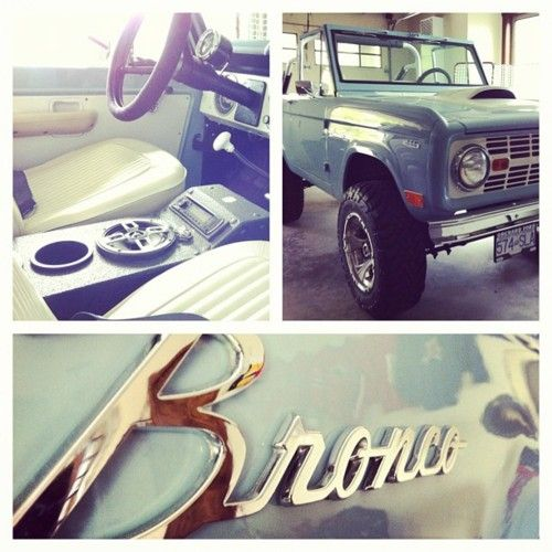 Ford Bronco! Want this as my daily driver ... Mint green