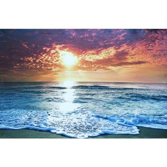 Like onze facebook pagina (artdeals.nl) en win een canvas schilderij naar keuze! Het schilderij wordt verloot onder de eerste 50 likers. Groot canvas schilderij, Zonsondergang op het strand aan zee. Afmetingen: 78x118 cm