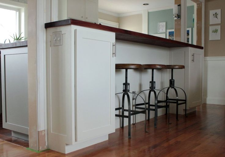 To Make Our Half Wall Into A Bar Cabinets Or Open