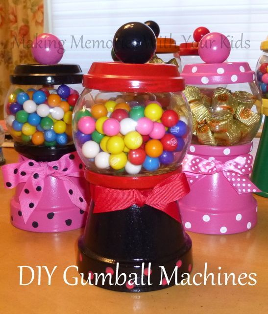 Idees And Solutions: DIY Gumball Machine And Candy Dispenser